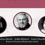 Kanerva-kuoron konsertissa solisteina Jaakko Ryhänen, Linda Urbanski, Juhana Mattila