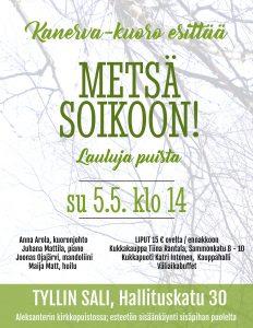 Flyer Metsä soikoon! - Lauluja puista